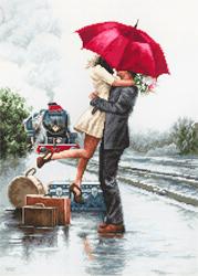Borduurpakket Couple on Train Station - Luca-S
