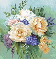 Borduurpakket Floral Bouquet - Luca-S