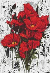 Cross stitch kit The Poppies - Luca-S