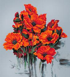 Borduurpakket The Poppies - Luca-S