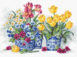 Borduurpakket Spring garden - Luca-S
