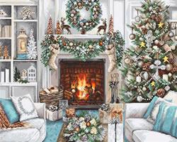 Borduurpakket Christmas Interior - Luca-S