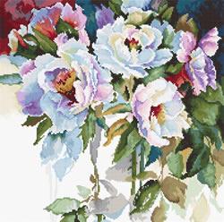 Borduurpakket White roses - Luca-S