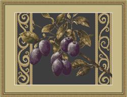 Borduurpakket Branch with prunes - Luca-S