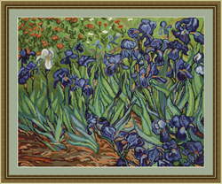 Borduurpakket Irises, reproduction of Van Gogh - Luca-S