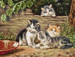 Borduurpakket The Cats - Luca-S