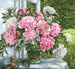 Borduurpakket Peonies by the Window - Luca-S