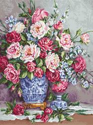 Cross stitch kit Her Majesty's Roses - Luca-S