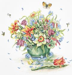 Borduurpakket April Bouquet - Luca-S
