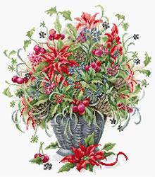 Borduurpakket December Bouquet - Luca-S
