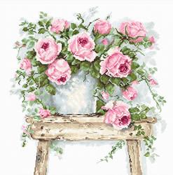 Borduurpakket Flowers on a Stool - Luca-S