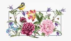 Borduurpakket Spring Flowers - Luca-S