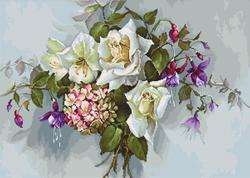Borduurpakket Bouquet with Roses - Luca-S