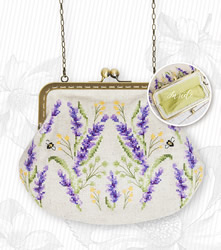 Borduurpakket Handbag Flowers (green inside) - Luca-S