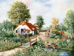 Borduurpakket Village landscape - Luca-S