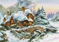 Cross stitch kit Winter Landscape - Luca-S