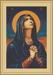 Petit Point Borduurpakket Joy to All the Afflicted - Icon of the Mother of God - Luca-S
