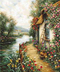 Petit Point stitch kit Along the River - Luca-S