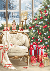 Petit Point stitch kit Christmas Interior Design - Luca-S