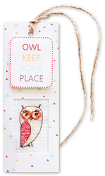 Borduurpakket Boekenlegger Owl keep your place - Luca-S