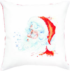 Cross stitch kit Pillow Santa - Borduurpakket