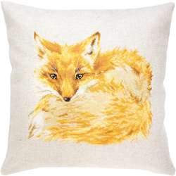 Cross stitch kit Pillow Fox - Borduurpakket