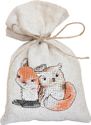 Borduurpakket Cross Stitch Bag - Fox and Owl - Luca-S