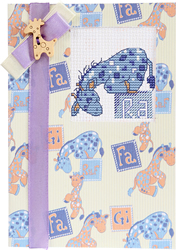 Cross stitch kit Postcard Giraffe Baby Blue - Luca-S