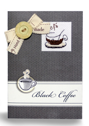 Borduurpakket Kaart Black Coffee - Luca-S