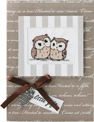 Borduurpakket Kaart Two Owls - Luca-S
