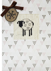 Borduurpakket Kaart Sheep - Luca-S