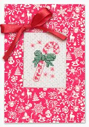Borduurpakket Kaart Christmas Candy - Luca-S