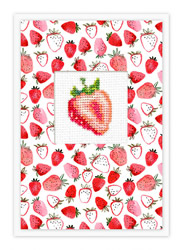 Borduurpakket Postcard Strawberry - Luca-S