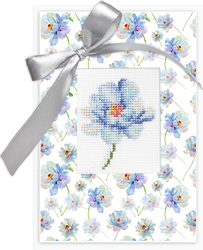 Cross stitch kit Postcard Flower - Borduurpakket