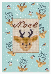 Cross stitch kit Postcard Reindeer - Luca-S