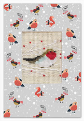 Cross stitch kit Postcard Robin - Luca-S