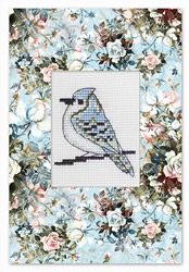 Cross stitch kit Postcard Bird - Luca-S