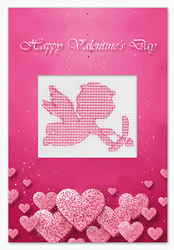 Cross stitch kit Postcard Valentine's Day Cupid - Luca-S