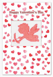 Borduurpakket Postcard Valentine's Day Cupid - Luca-S