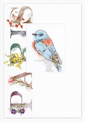 Cross stitch kit Postcard - Bird Paris - Luca-S