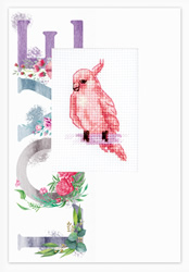 Cross stitch kit Postcard - Bird Love - Luca-S