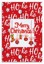 Borduurpakket Merry Christmas! - Luca-S