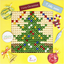 Borduurpakket My First Embroidery - Christmas Tree - Luca-S