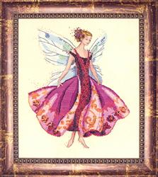 Borduurpatroon January's Garnet Fairy - Mirabilia Designs