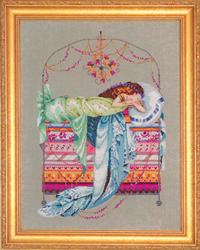 Borduurpatroon Sleeping Princess - Mirabilia Designs