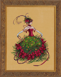 Borduurpatroon Miss Christmas Eve - Mirabilia Designs