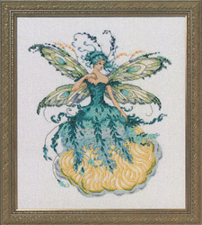 Borduurpatroon March Aquamarine Fairy - Mirabilia Designs
