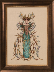 Borduurpatroon Cathedral Woods Goddess - Mirabilia Designs