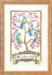 Borduurpatroon Four Calling Birds - Mirabilia Designs