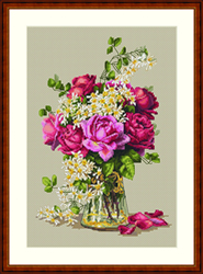 Borduurpakket Roses - Merejka
